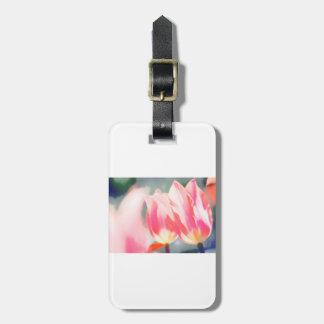 Etiqueta De Bagagem Esboço cor-de-rosa do duo da tulipa