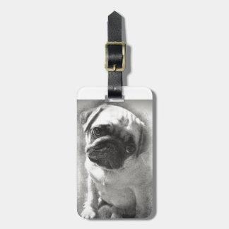 Etiqueta De Bagagem Esboço do cão de filhote de cachorro do Pug