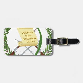 Etiqueta De Bagagem Escudo de armas de Guatemala - brasão