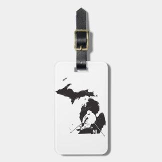 Etiqueta De Bagagem Esqui Michigan