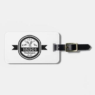 Etiqueta De Bagagem Estabelecido em 15301 Washington