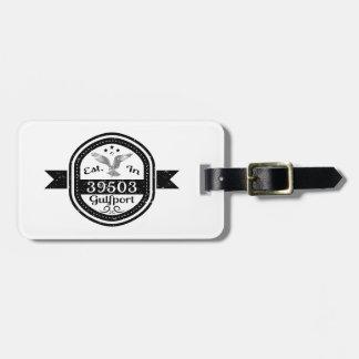 Etiqueta De Bagagem Estabelecido em 39503 Gulfport