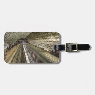 Etiqueta De Bagagem Estação de caminhos-de-ferro do metro do