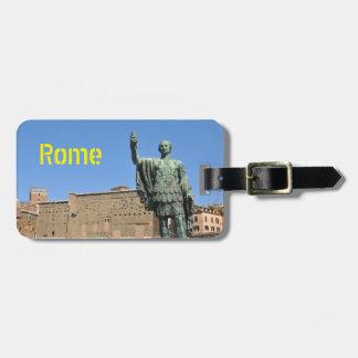 Etiqueta De Bagagem Estátua de Trajan em Roma, Italia