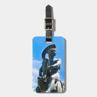 Etiqueta De Bagagem Estátua do soldado grego em Atenas, piscina