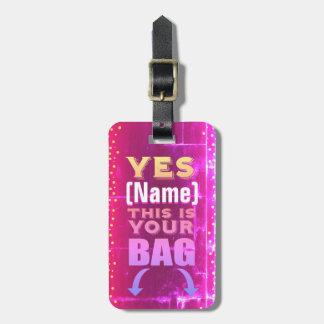 Etiqueta De Bagagem Este é seu Tag do saco