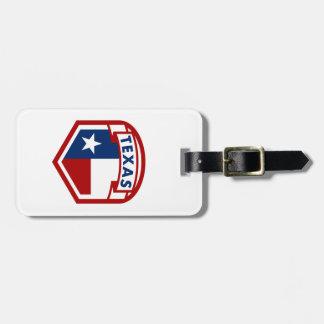 Etiqueta De Bagagem Estilo da brasão da bandeira de Texas