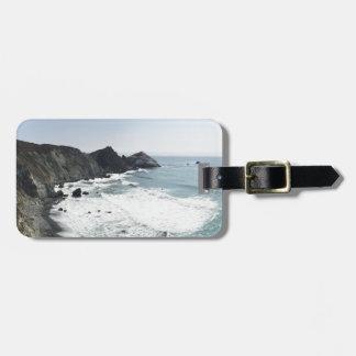 Etiqueta De Bagagem Estrada Sur grande da Costa do Pacífico da vista