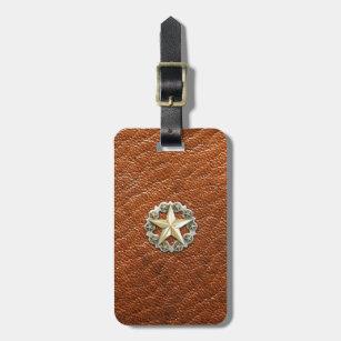 Etiqueta De Bagagem Estrela solitária Concho de Texas no olhar do