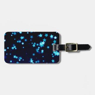 Etiqueta De Bagagem Estrelas azuis