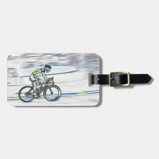 Etiqueta De Bagagem Etiqueta da bagagem do ciclista, customiseable