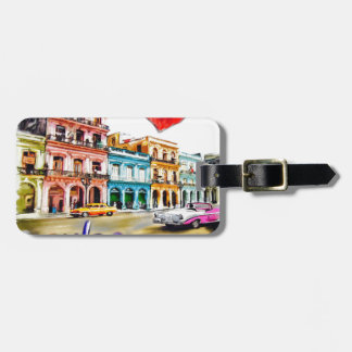 Etiqueta De Bagagem Eu amo Cuba