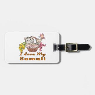 Etiqueta De Bagagem Eu amo meu somaliano