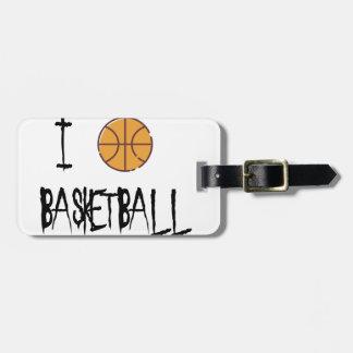 Etiqueta De Bagagem Eu amo o basquetebol