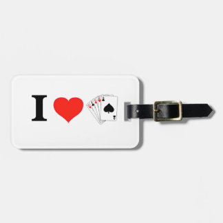 Etiqueta De Bagagem Eu amo o póquer