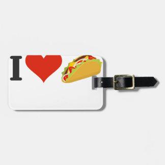 Etiqueta De Bagagem Eu amo o Tacos para amantes do Taco