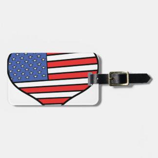 Etiqueta De Bagagem Eu amo orgulho de América - os Estados Unidos da