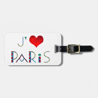 Etiqueta De Bagagem Eu amo Paris no vitral de Notre Dame