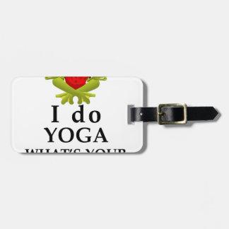 Etiqueta De Bagagem eu faço a ioga que s seu poder super