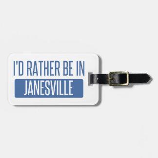 Etiqueta De Bagagem Eu preferencialmente estaria em Janesville