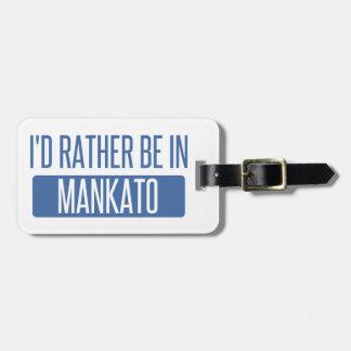 Etiqueta De Bagagem Eu preferencialmente estaria em Mankato