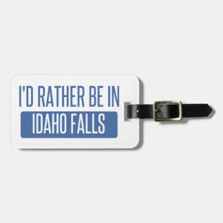 Etiqueta De Bagagem Eu preferencialmente estaria em quedas de Idaho