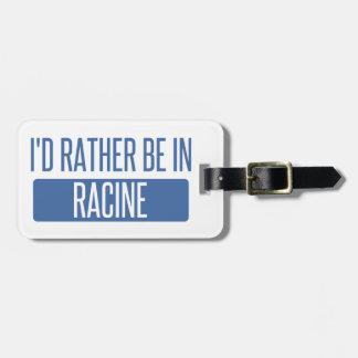 Etiqueta De Bagagem Eu preferencialmente estaria em Racine