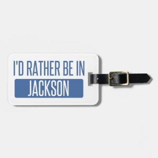 Etiqueta De Bagagem Eu preferencialmente estaria no MS de Jackson