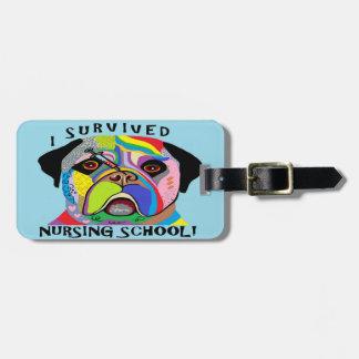 Etiqueta De Bagagem Eu sobrevivi à escola de cuidados