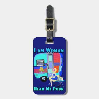 Etiqueta De Bagagem Eu sou mulher ouço-me derramar