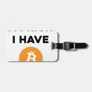 Etiqueta De Bagagem Eu sou rico - eu tenho Bitcoin