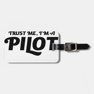 Etiqueta De Bagagem Eu sou um piloto