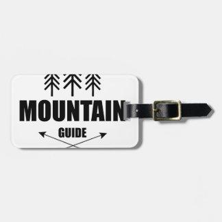 Etiqueta De Bagagem Excursão e aventura, guia da montanha
