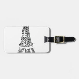 Etiqueta De Bagagem excursão Eiffel