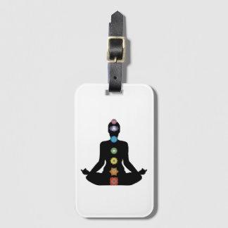 Etiqueta De Bagagem Exercício da malhação de Chakras da ioga