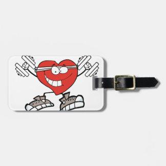 Etiqueta De Bagagem exercício heart2