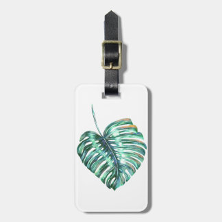 Etiqueta De Bagagem Exótico tropical moderno da folha de Monstera