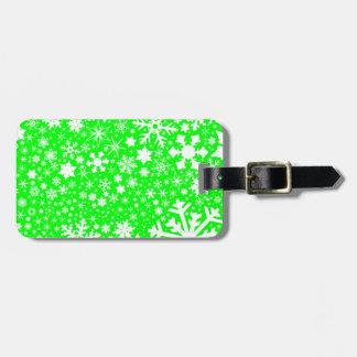 Etiqueta De Bagagem Explosão verde do Natal