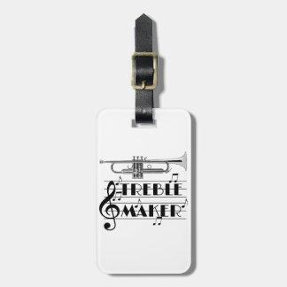 Etiqueta De Bagagem Fabricante do triplo do jogador de trombeta