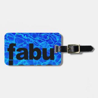 Etiqueta De Bagagem fabuloso
