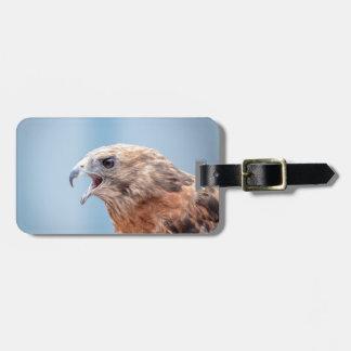 Etiqueta De Bagagem Falcão empurrado vermelho