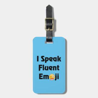 Etiqueta De Bagagem Fale Emoji fluente
