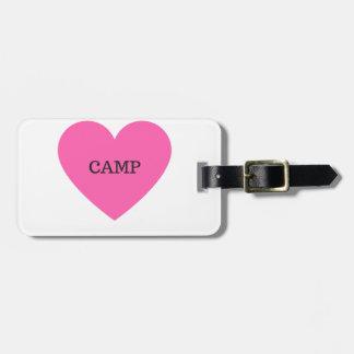 Etiqueta De Bagagem Faz-me o acampamento feliz