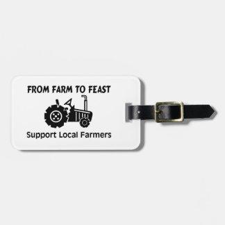 Etiqueta De Bagagem Fazendeiros do apoio da fazenda a deleitar-se