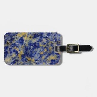 Etiqueta De Bagagem Feche acima de um Sodalite azul