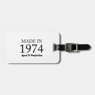 Etiqueta De Bagagem Feito em 1974