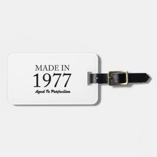 Etiqueta De Bagagem Feito em 1977