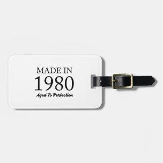 Etiqueta De Bagagem Feito em 1980