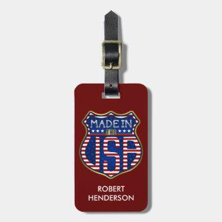 Etiqueta De Bagagem Feito nos EUA 4ns do logotipo americano orgulhoso