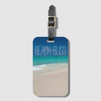 Etiqueta De Bagagem Felicidade bonita da praia
